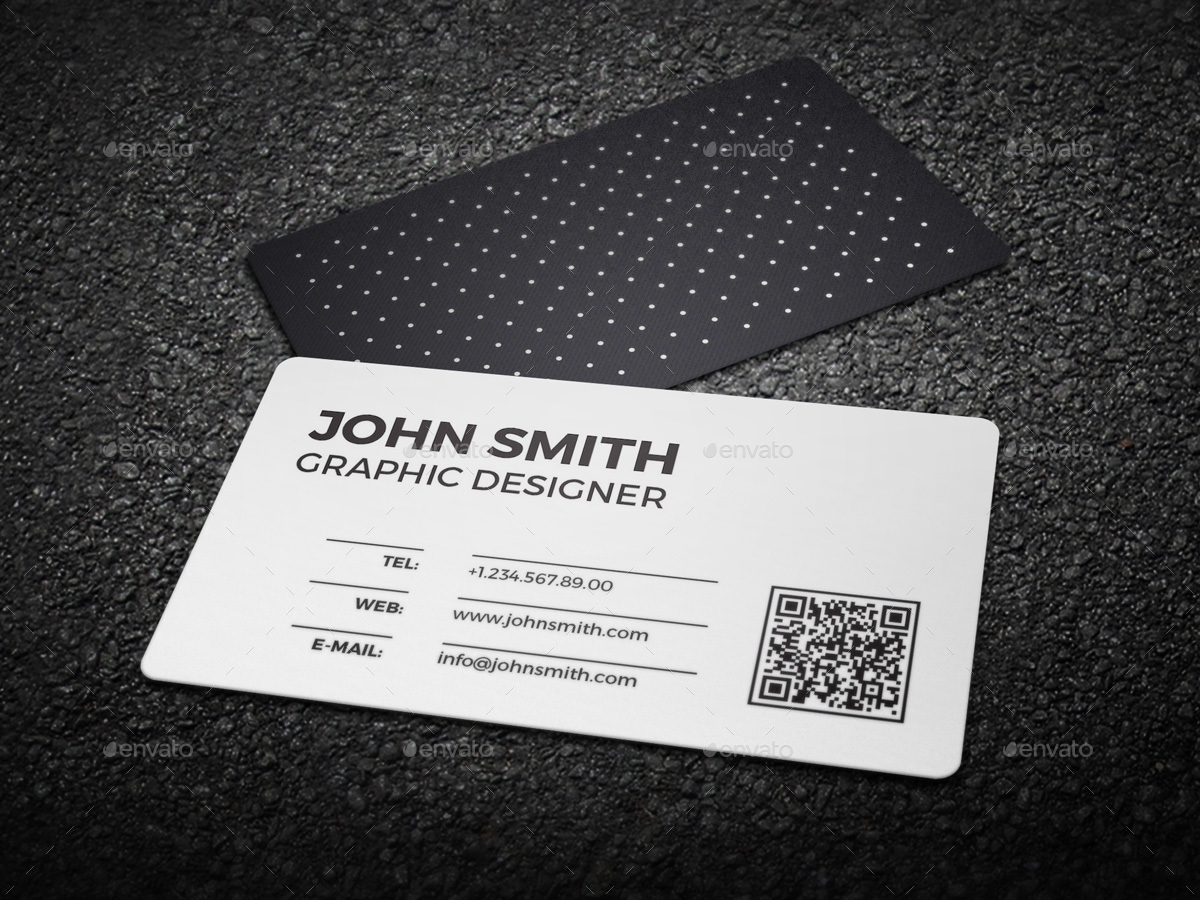 2 in 1 Black & White Business Card - 59 by nazdrag | GraphicRiver