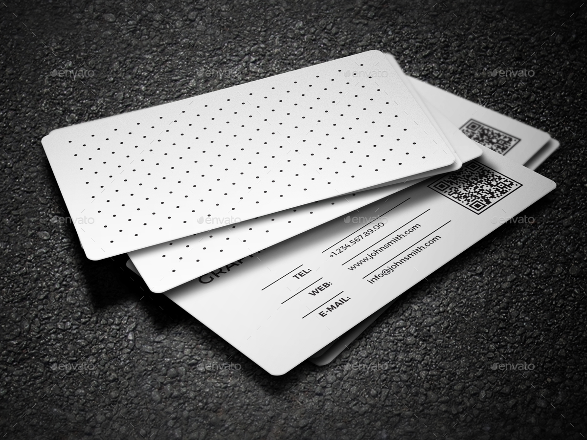 2 In 1 Black White Business Card 59 By Nazdrag Graphicriver