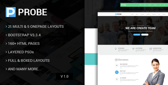 Probe – Responsive Multi-Purpose HTML5 Template