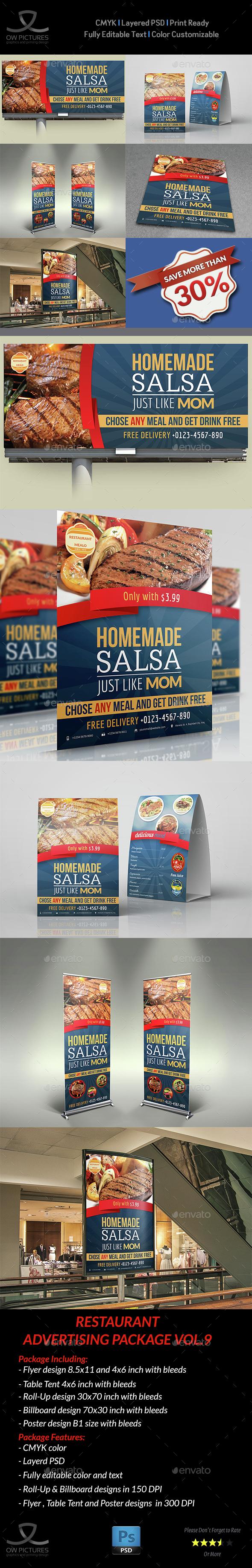 Restaurant Advertising Bundle Vol.9 - Signage Print Templates