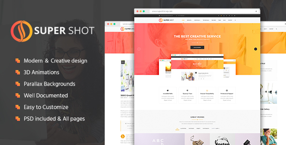SuperShot – Creative HTML Template