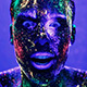 Facial Expressions Man In Ultraviolet Light - VideoHive Item for Sale
