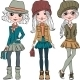 Set of Fashion Hipster Girls - GraphicRiver Item for Sale