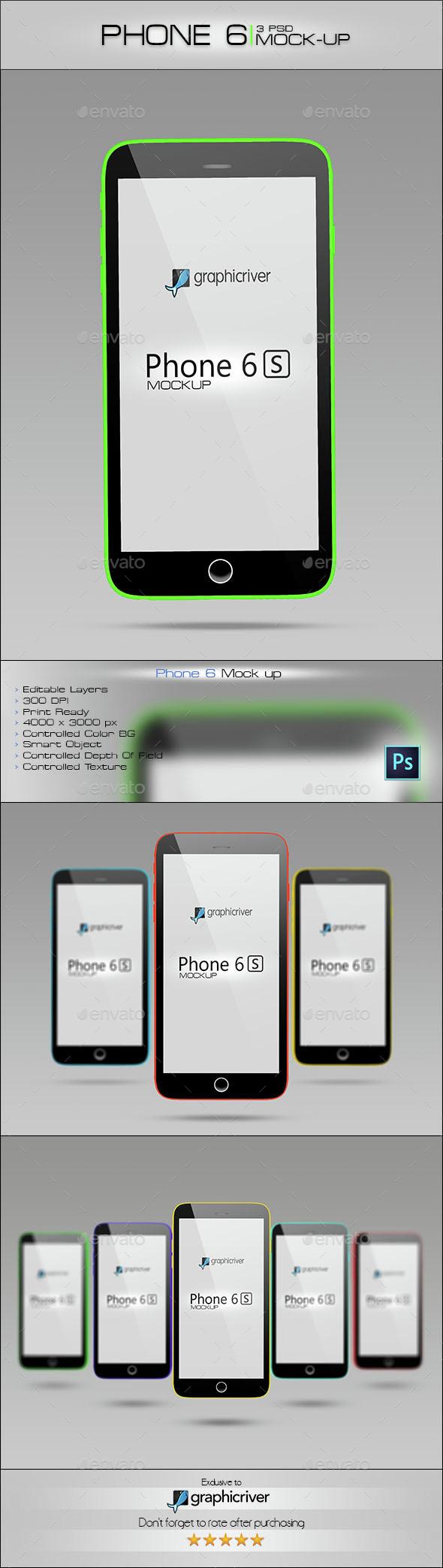 Phone 6  - Product Mock-Ups Graphics