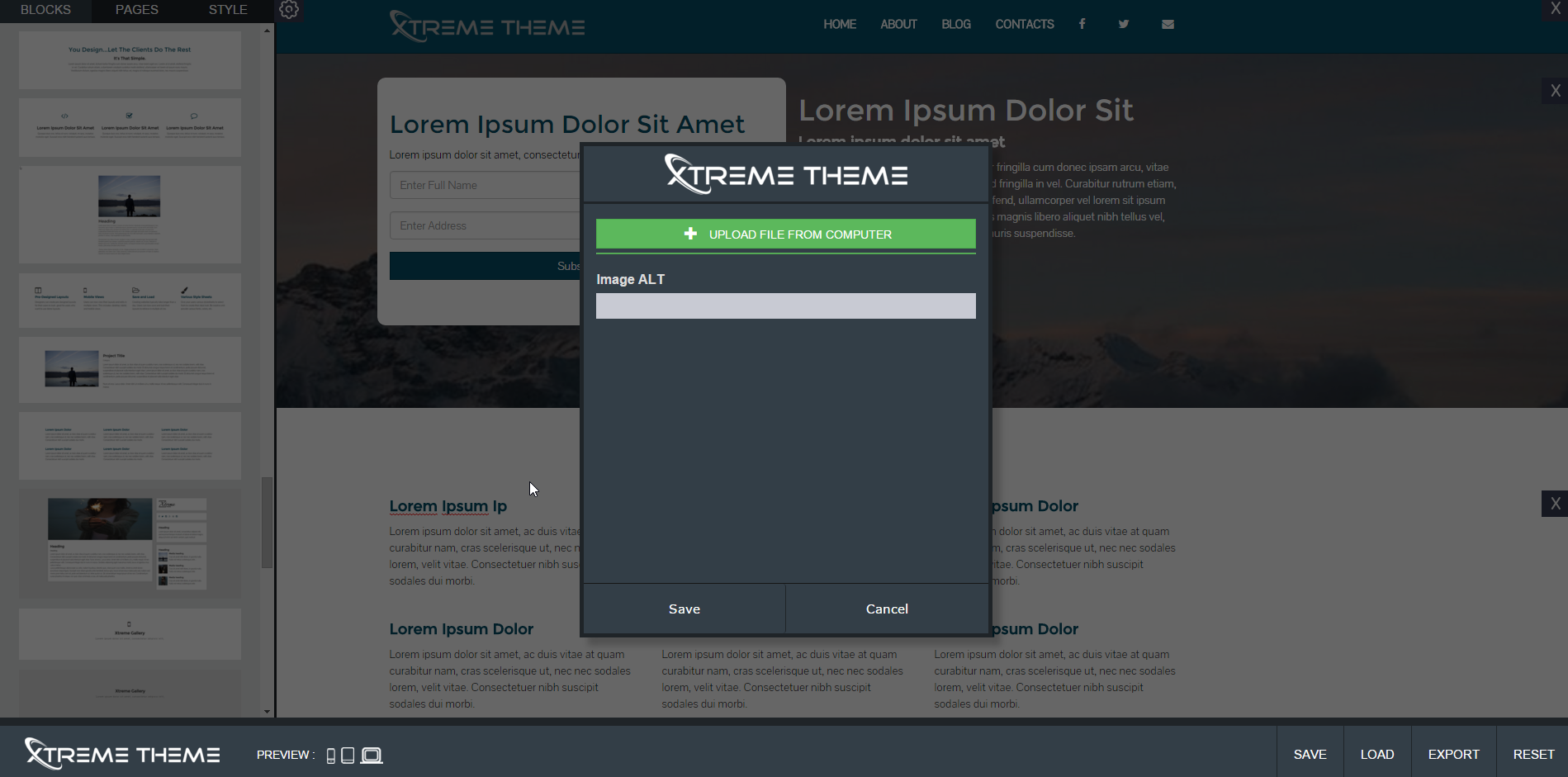 Xtreme Theme Site Builder - For Bootstrap Templates by XtremeBlocks