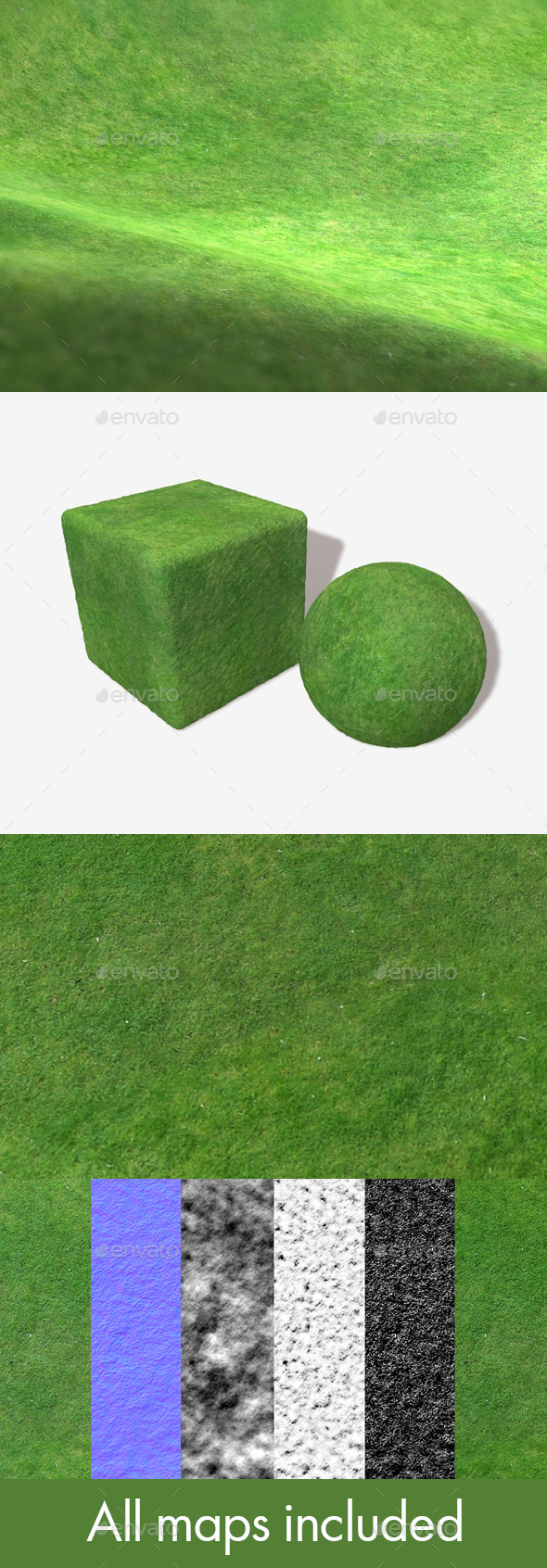 Grass From A High Angle Seamless Texture - 3DOcean Item for Sale