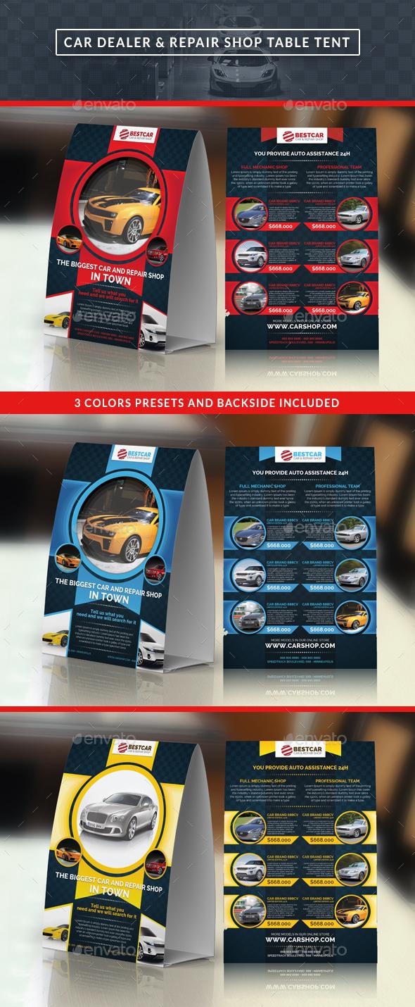 Car Dealer & Auto Services Table Tent - Miscellaneous Print Templates