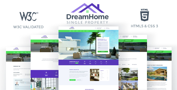 DreamHome – Single Property HTML Template
