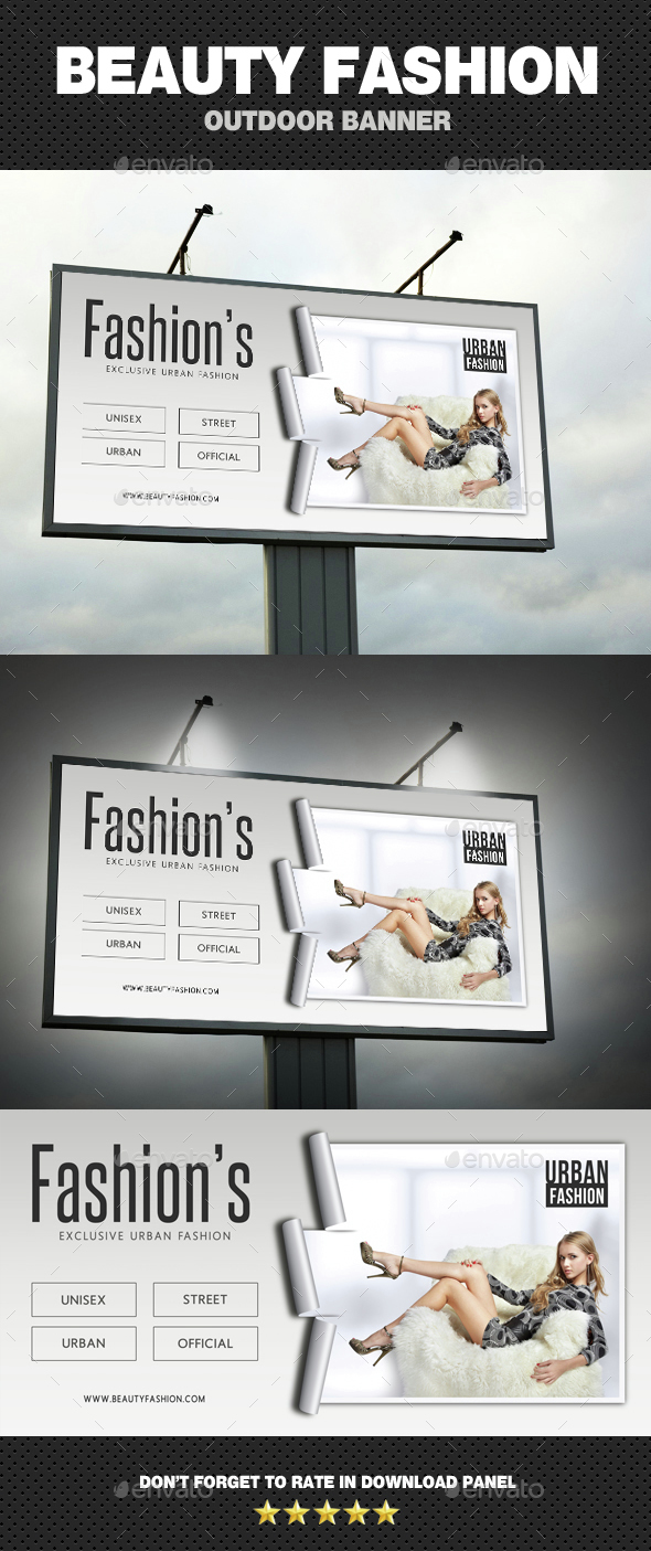 Beauty Fashion Outdoor Banner - Signage Print Templates