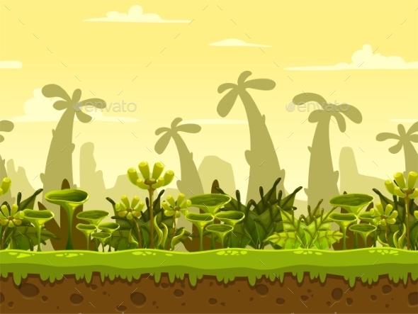 Seamless Fantasy Landscape - Landscapes Nature