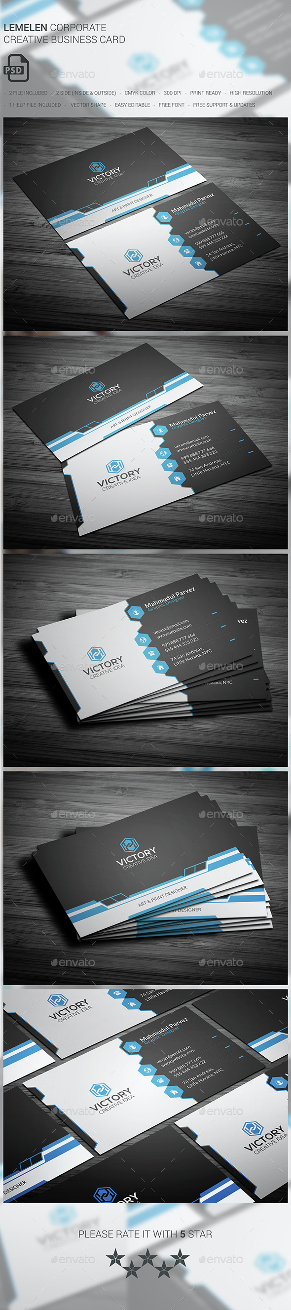 Lemelen Corporate Business Card - Corporate Business Cards
