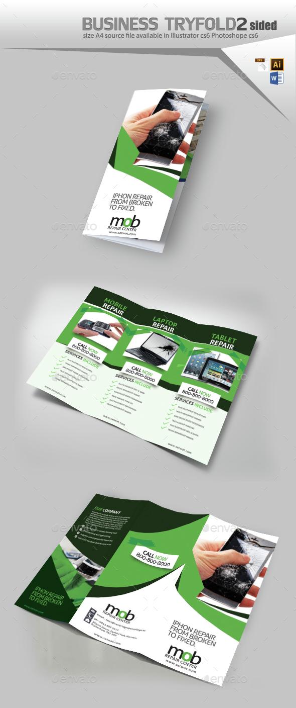 Cellular Repair Trifold Brochure  - Brochures Print Templates