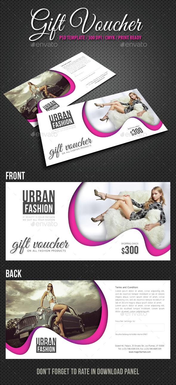 Elegant Gift Voucher V06 - Cards & Invites Print Templates