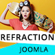 Refraction — Creative Agency and Blog Responsive Joomla Multipurpose Template with 4 Demo Nulled