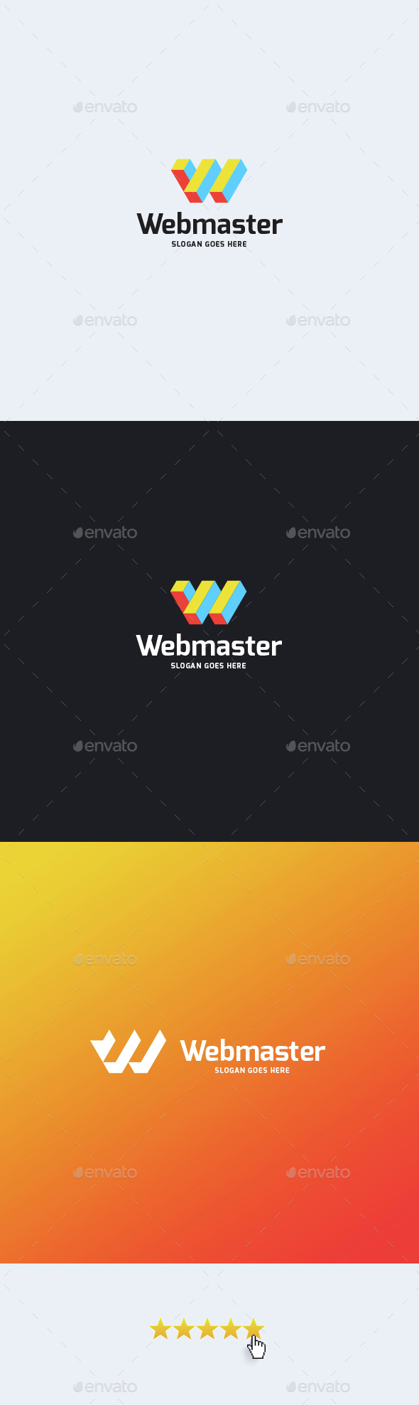 Webmaster • Letter W Logo Template - Letters Logo Templates