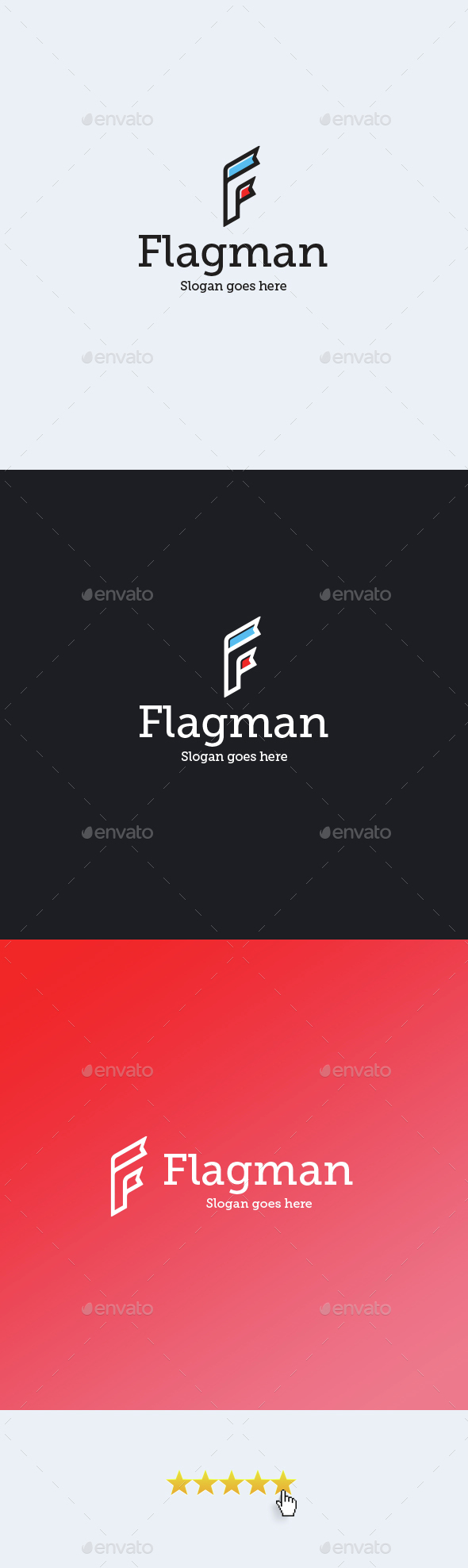 Flagman • Letter F Logo Template - Letters Logo Templates