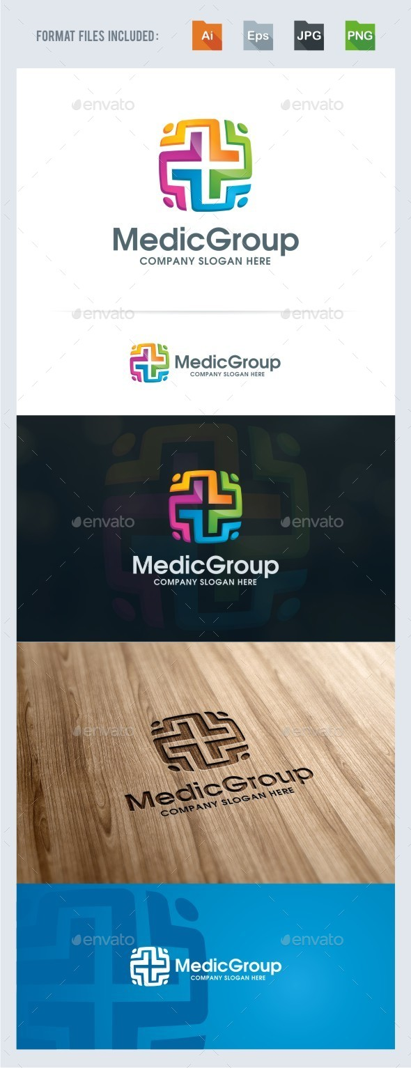 Medical Group Logo Template - Humans Logo Templates
