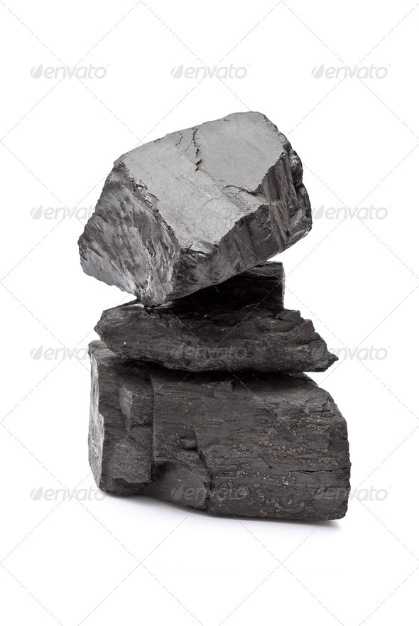 Pile of coal - Stock Photo - Images