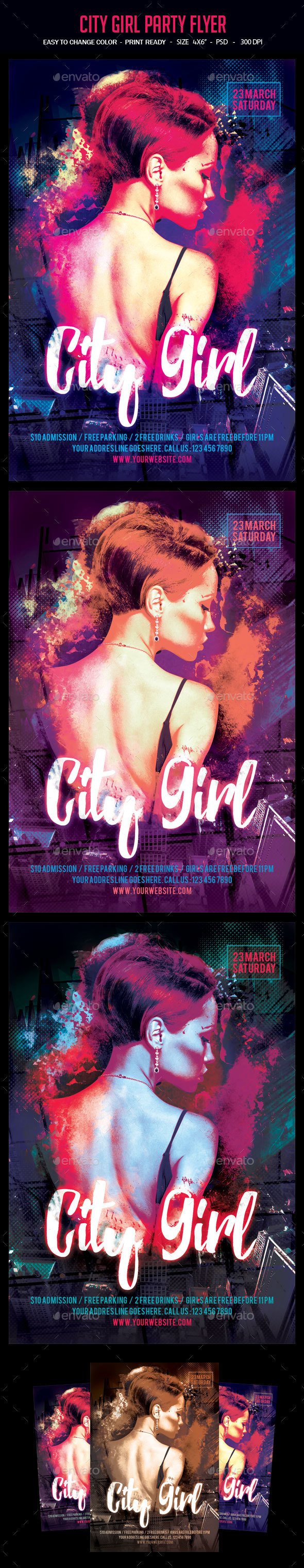 City Girl Party Flyer - Clubs & Parties Events