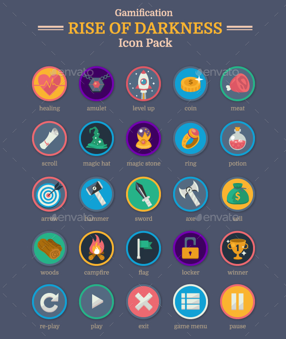 25 Gamification Icon Pack - Web Icons