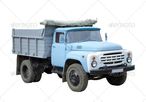 Old blue truck - Stock Photo - Images