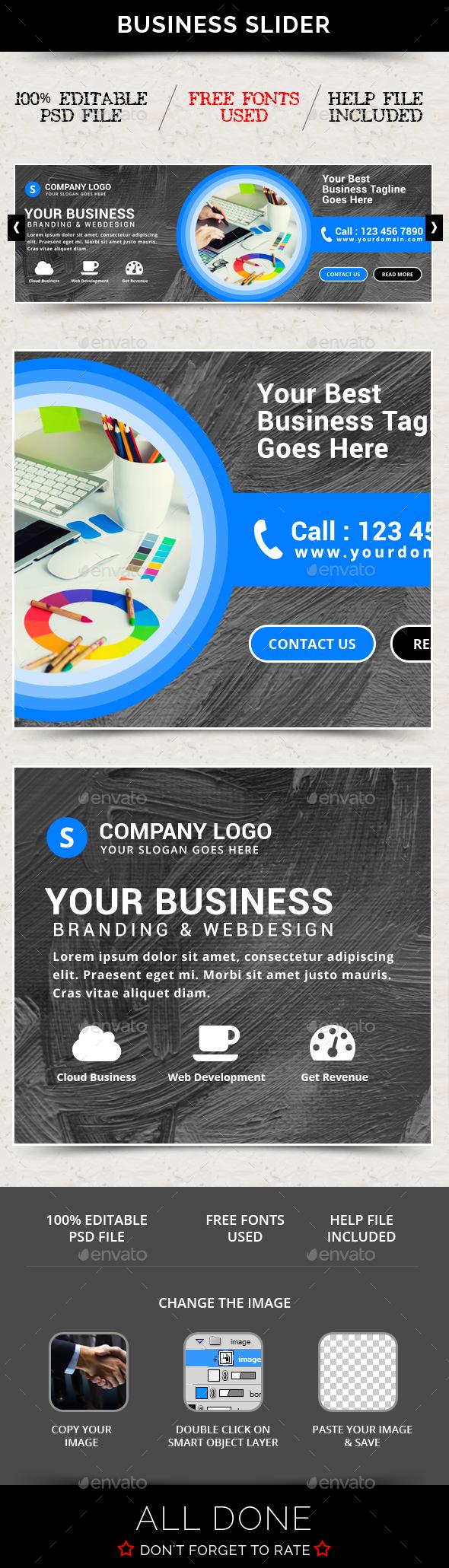 Business Slider V61 - Sliders & Features Web Elements