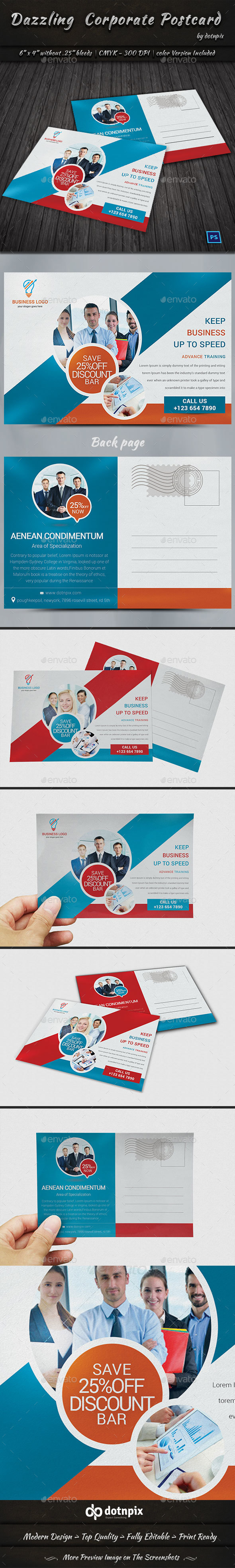 Dazzling Corporate Postcard - Cards & Invites Print Templates