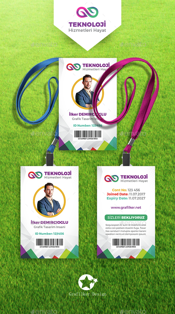 Corporate ID Card Templates by grafilker | GraphicRiver