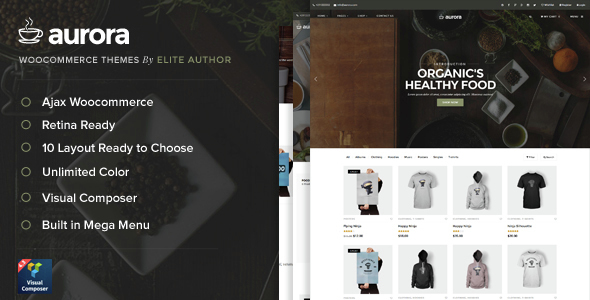 Aurora - 9 Layout Ajax Woocommerce Theme