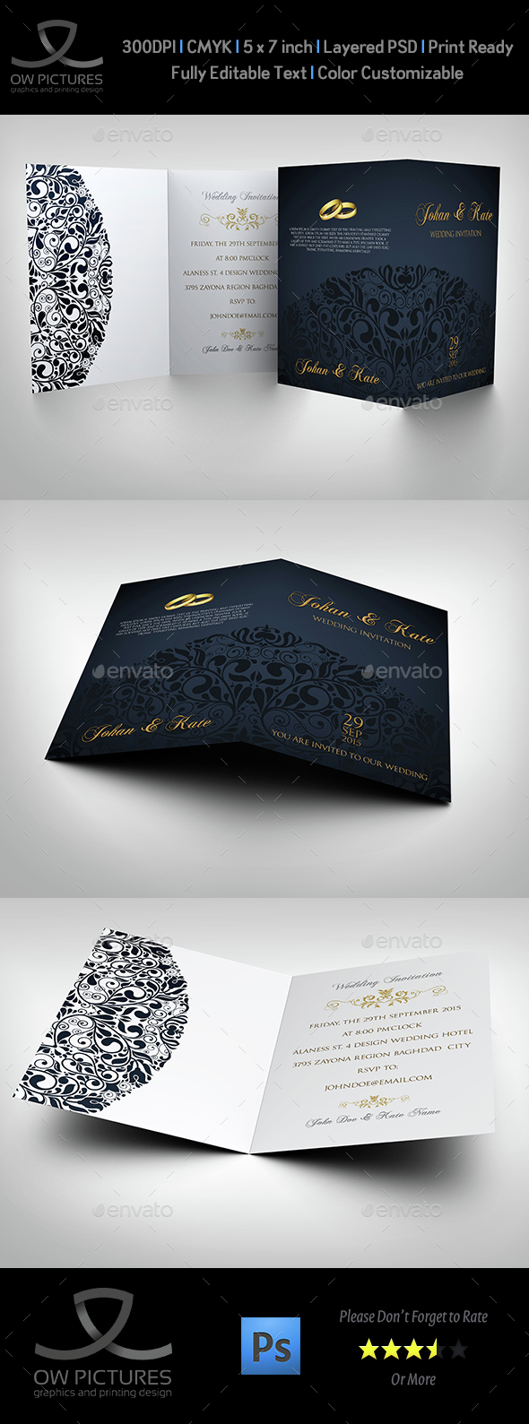 Wedding Invitation Card Template Vol.14