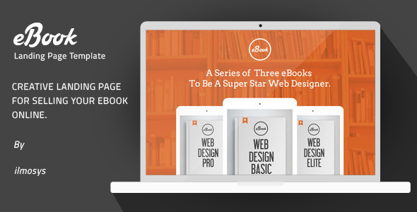 eBook – Creative Landing Page Template