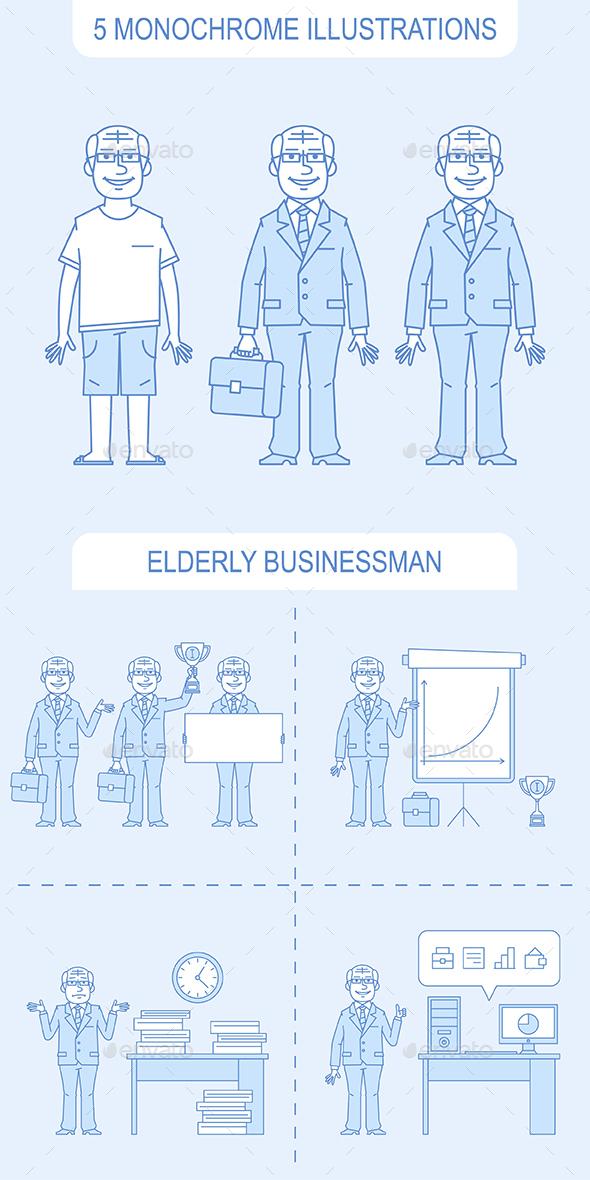 Elderly Businessman - People Characters