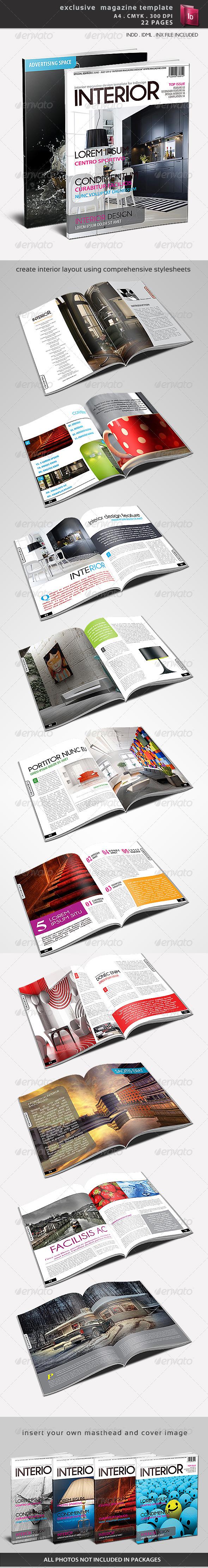 Exclusive Magazine Template - Magazines Print Templates
