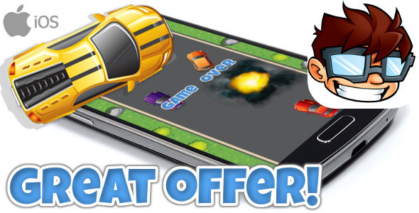 Turbo Highway Racer iOS + IN APP PURCHASE + ADMOB + MORE!!! - CodeCanyon Item for Sale