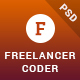 Freelancer Coder - One Page Portfolio PSD Template - ThemeForest Item for Sale