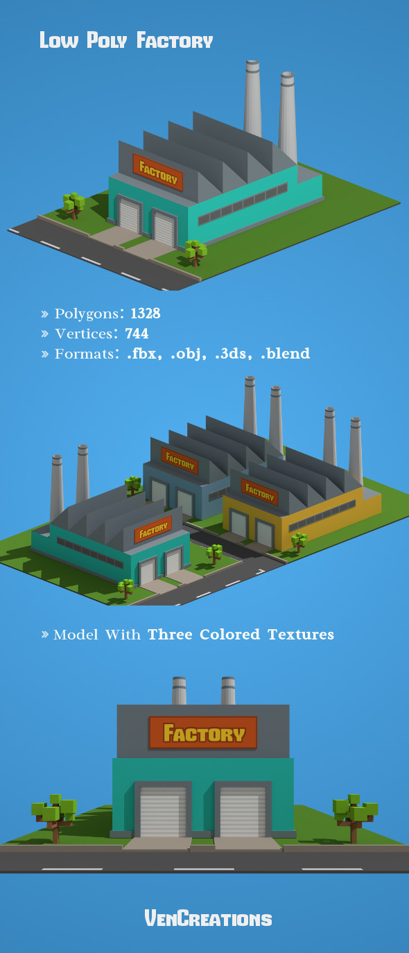 Low Poly Factory - 3DOcean Item for Sale