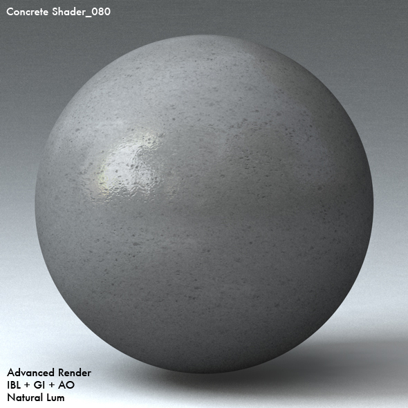 Concrete Shader_080 - 3DOcean Item for Sale