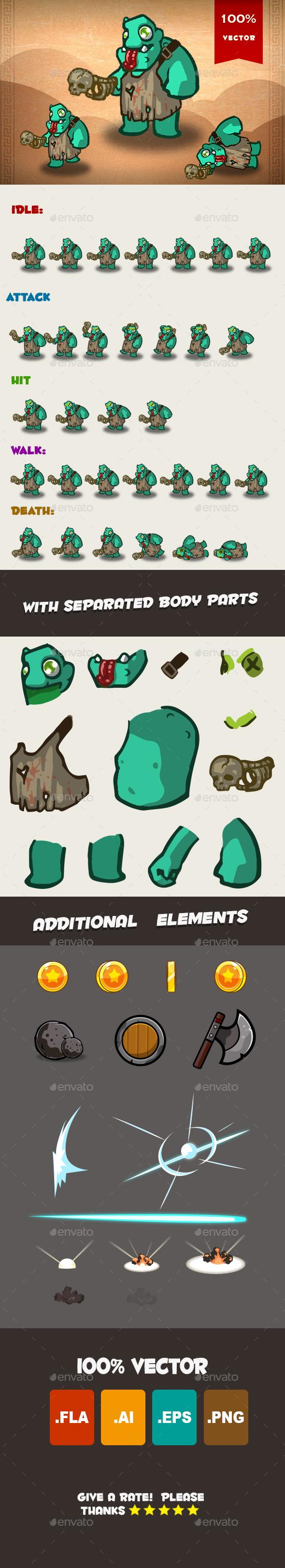 Ogre Spritesheet 03 - Sprites Game Assets