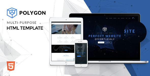 Polygon - Powerful Multipurpose HTML5 Website Template by surjithctly