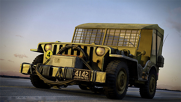 Military Army Jeep - 3DOcean Item for Sale