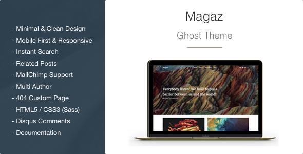 Magaz – Magazine and Multipurpose Clean Ghost Theme