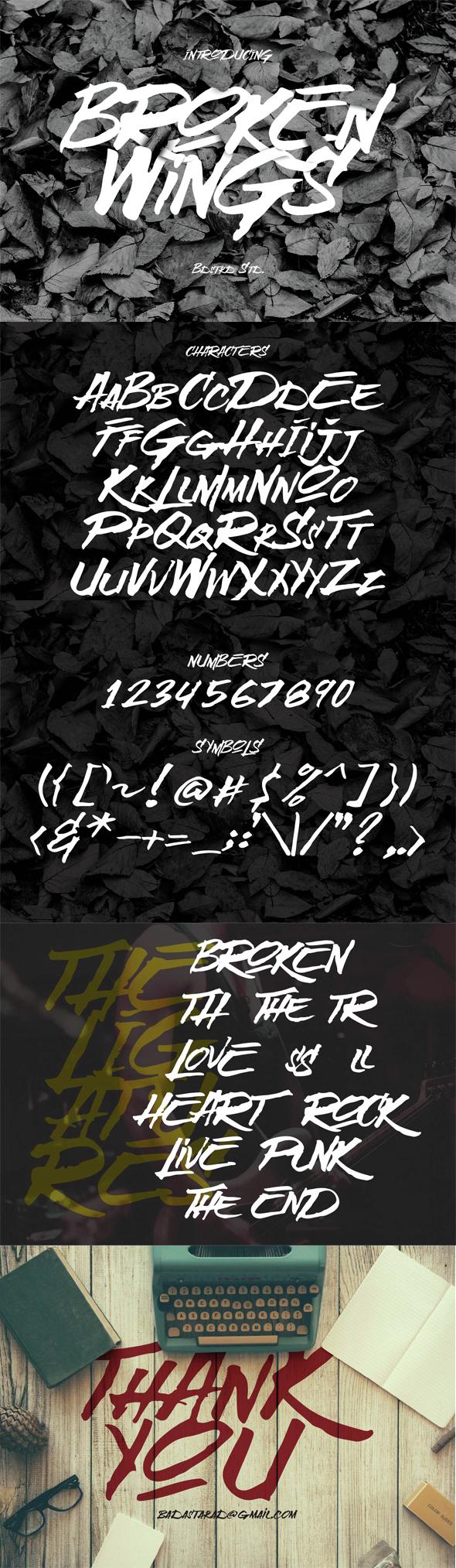 Broken Wings Typeface - Decorative Fonts
