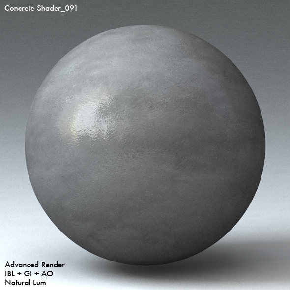 Concrete Shader_091 - 3DOcean Item for Sale