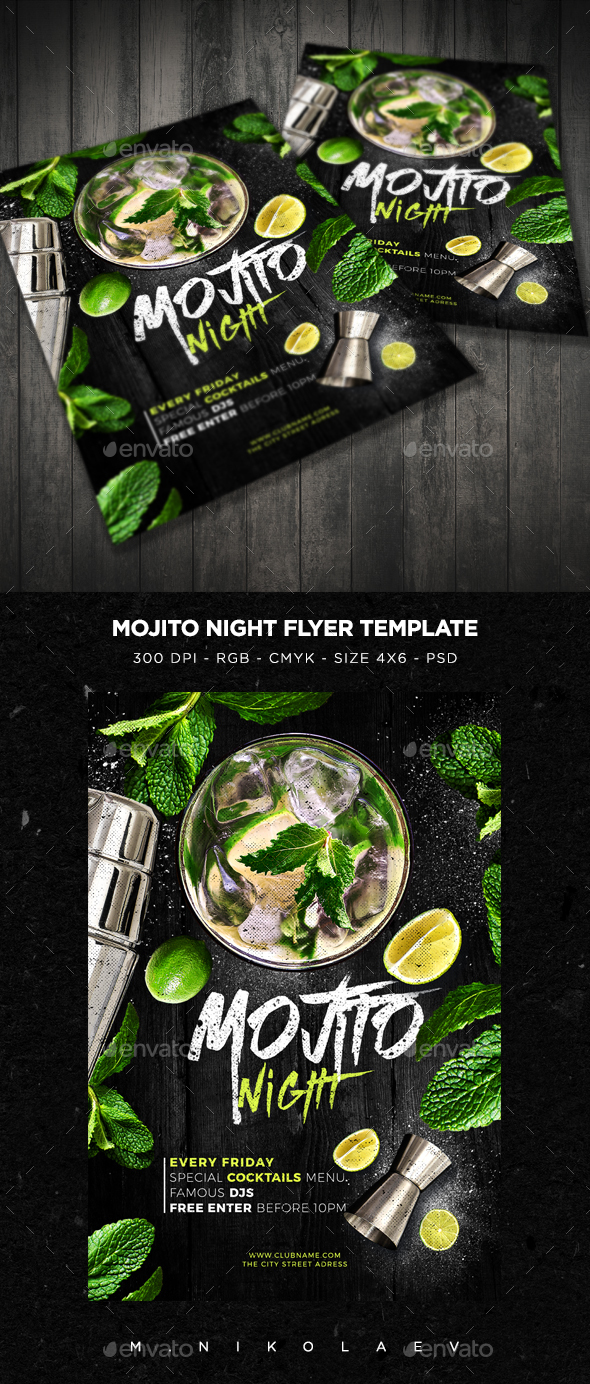 Mojito Night Flyer V3 - Clubs & Parties Events