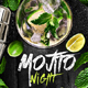 Mojito Night Flyer V3 - GraphicRiver Item for Sale