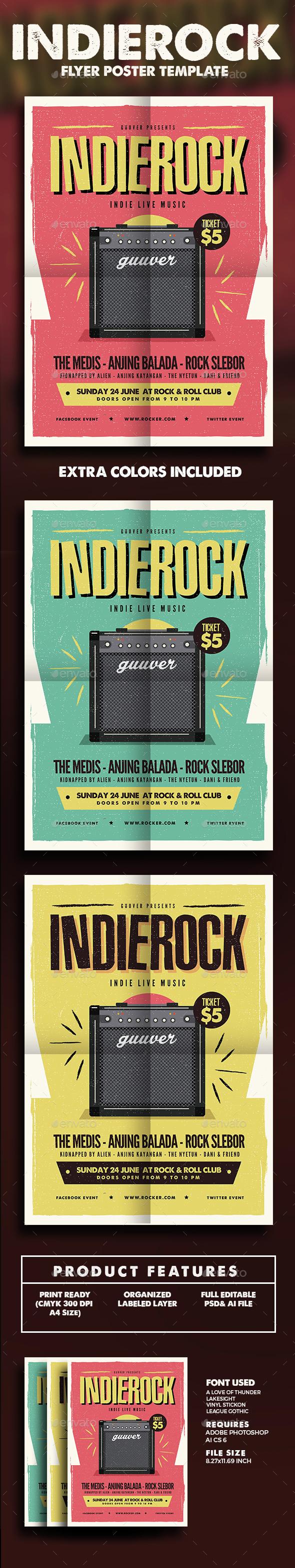 Indie Rock Flyer - Events Flyers