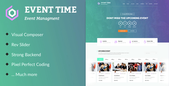 Event Time – Conference & Event WordPress Theme