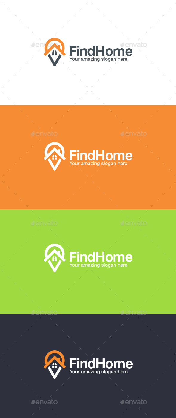 Home Finder Logo Template - Symbols Logo Templates