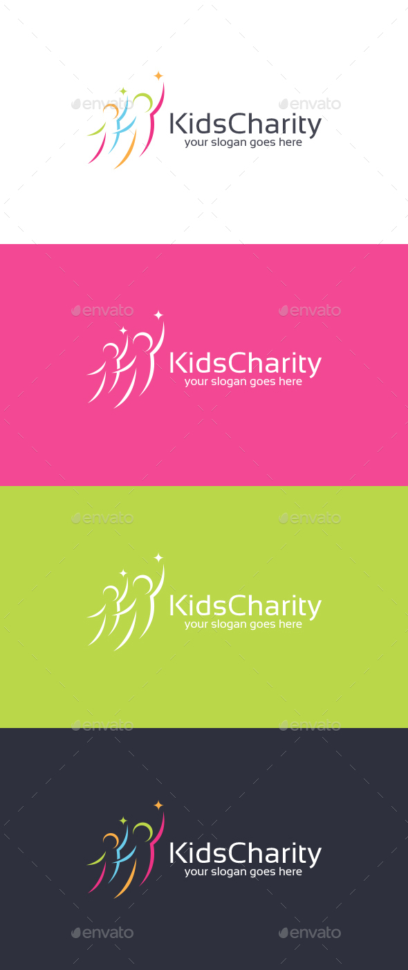 Kids Charity Logo Template - Humans Logo Templates