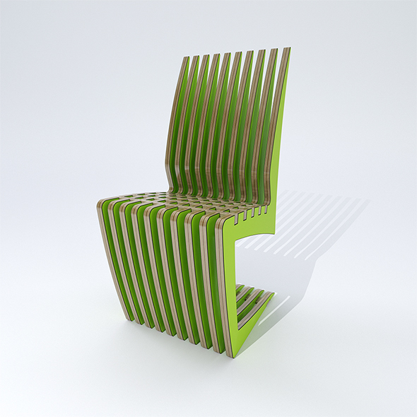 Laser cut Chair - 3DOcean Item for Sale